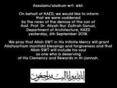 Message of Condolence