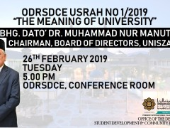 Invitation To Attend Odrsdce Usrah No 1 2019 The Meaning Of