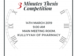 KOP Postgraduate Symposium 2019: '3 Minutes Thesis (3MT)' Thesis Competition