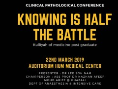 """""""Knowing is Half the Battle"""" - KOM CPC by Dept. of Anaesthesiology"""
