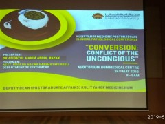 """Conversion: Conflict of the Unconscious"""" - KOM CPC by Dept. of Psychiatry (24th May 2019/Friday) at Auditorium IIUMMC"""
