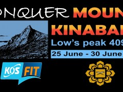 """KOS-FIT """"FIT FOR LIFE """"  - Conquer Mount Kinabalu Expedition"""