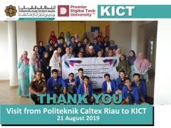Visit from Politek Caltex Riau to KICT
