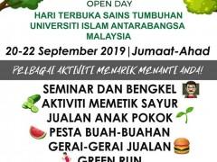 IIUM Plant Science Open Day (IPOD) 2019