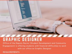 STUDENTS EMPLOYMENT ON CAMPUS - GRAPHIC DESIGNER
