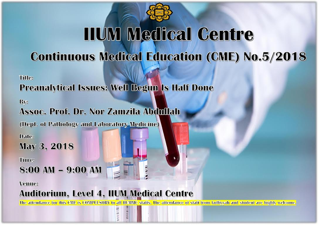 CONTINUOUS MEDICAL EDUCATION (CME) NO.5/2018