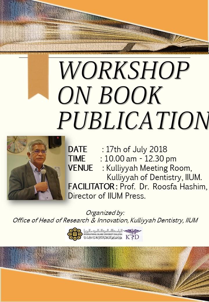 Book Publication Workshop by Director of IIUM Press