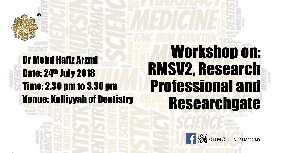 Workshop on: RMSV2, Research Professional and Research Gate