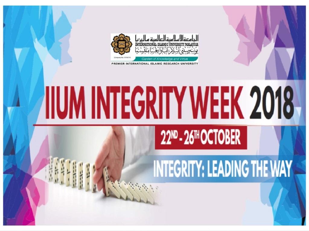 INTEGRITY WEEK 2018