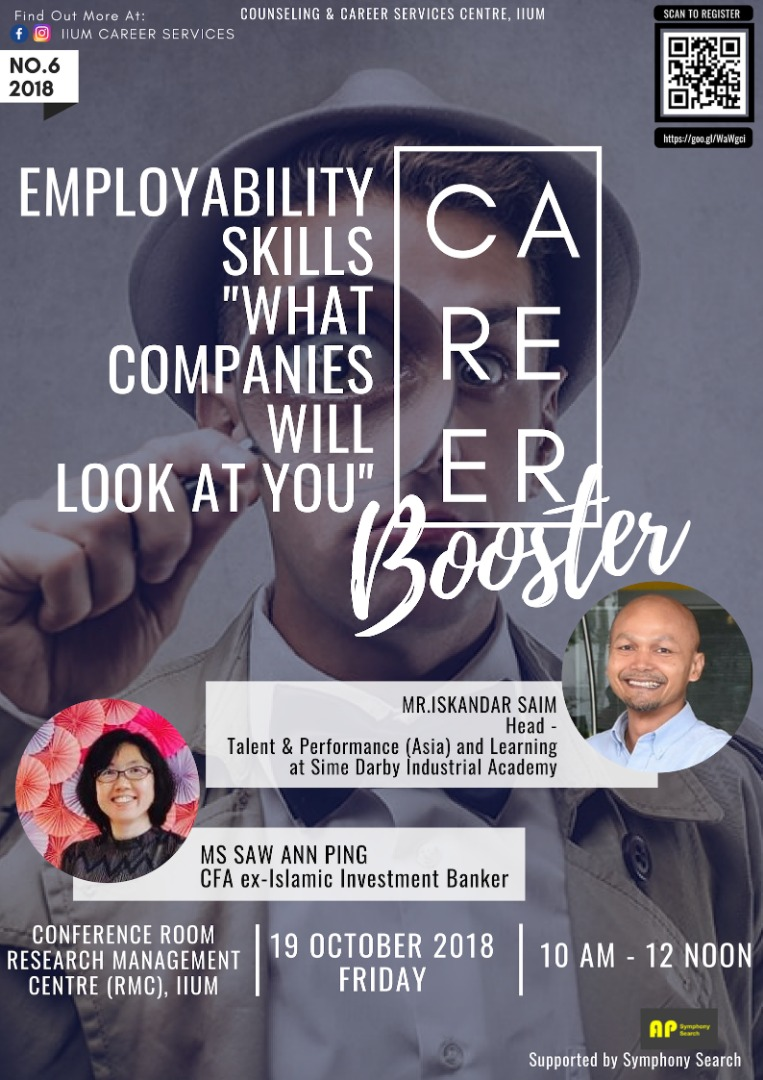 "Career Booster : Employability Skills ""What Companies Will Look at You"""