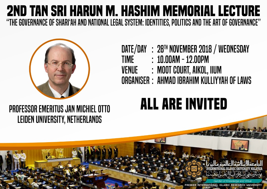 2ND TAN SRI HARUN M. HASHIM MEMORIAL LECTURE