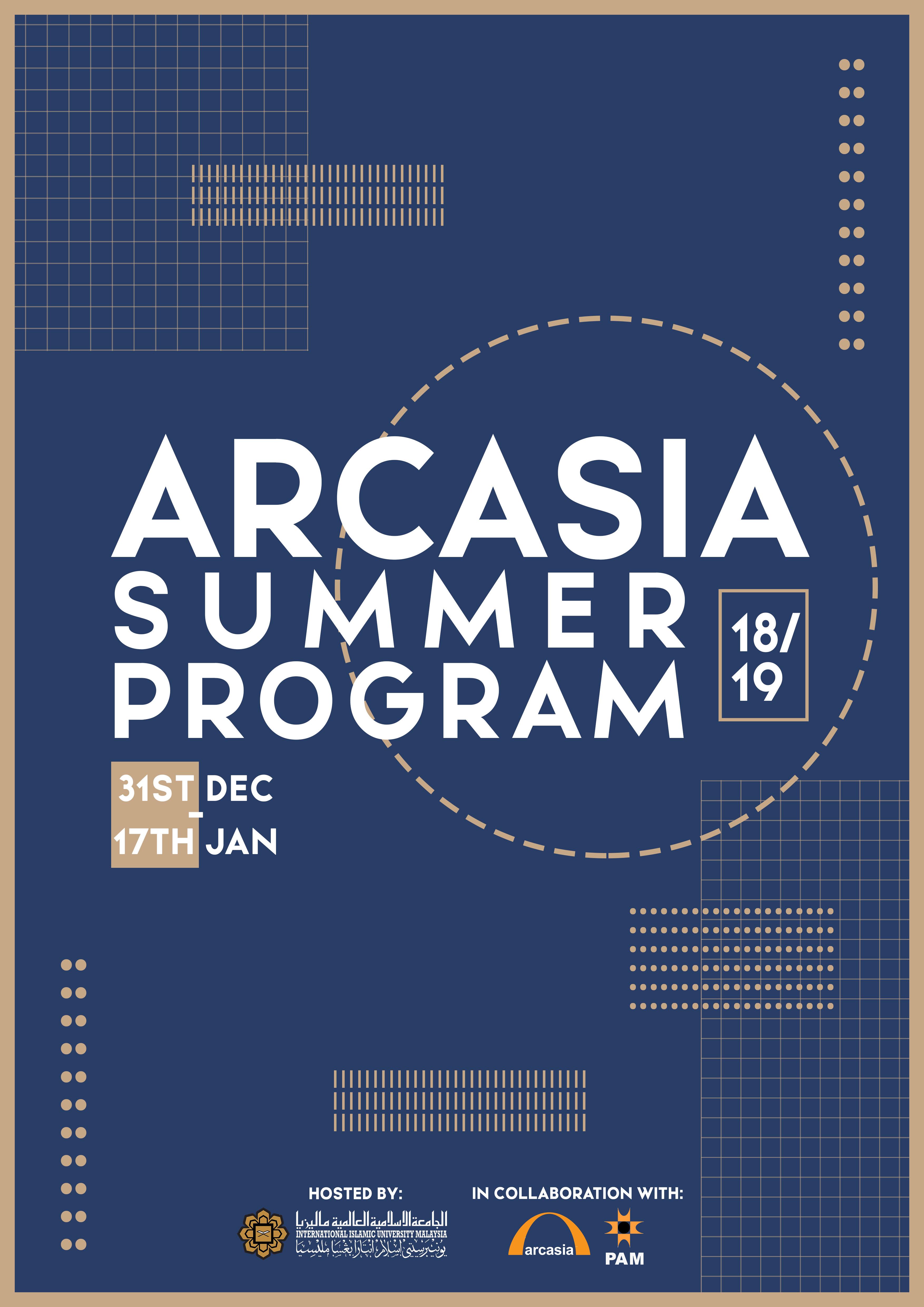 ARCASIA Summer Program 18/19