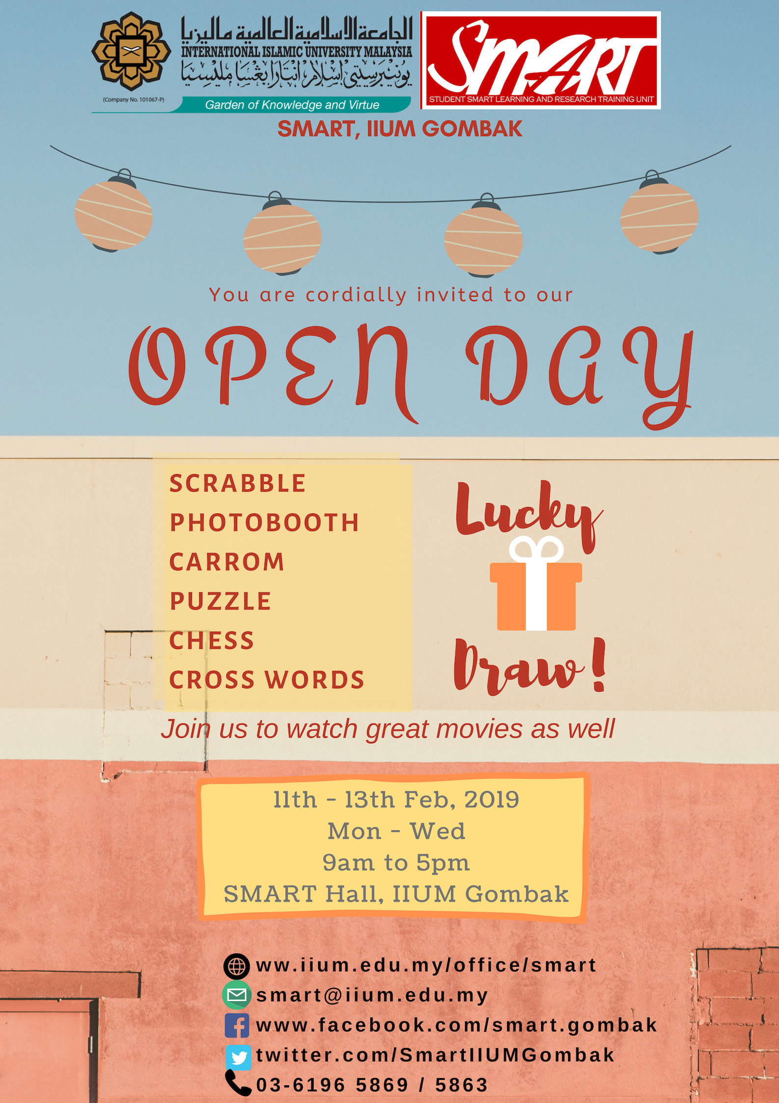 OPEN DAY SMART SEM 2, 2018/2019