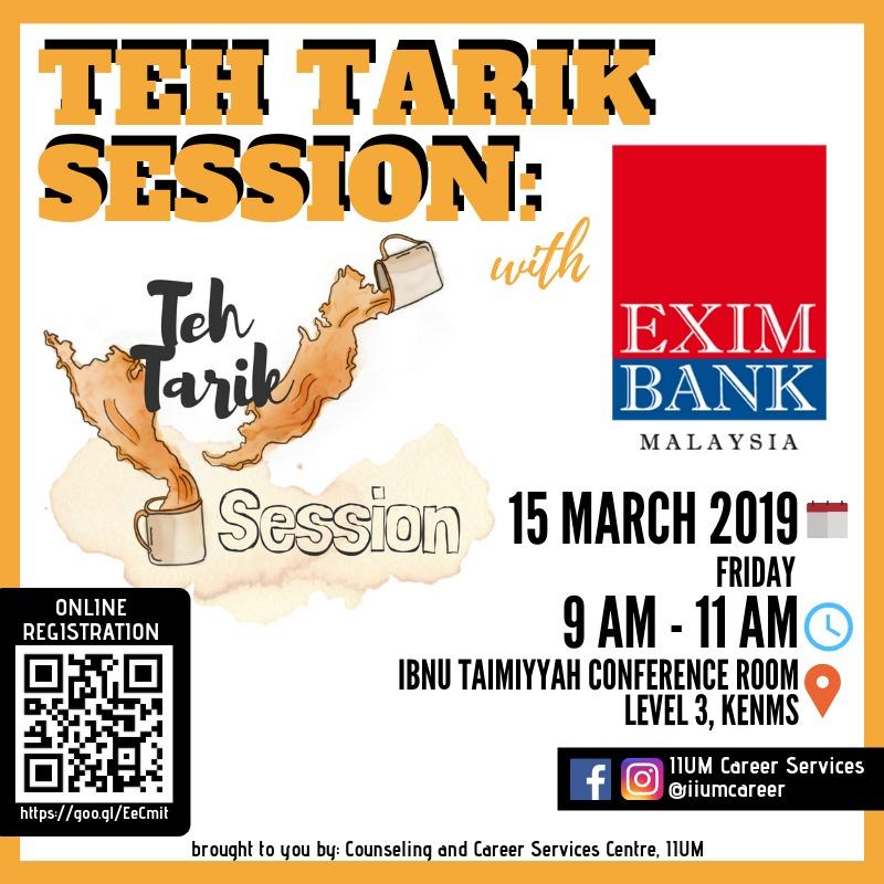 Teh Tarik Session with EXIM Bank