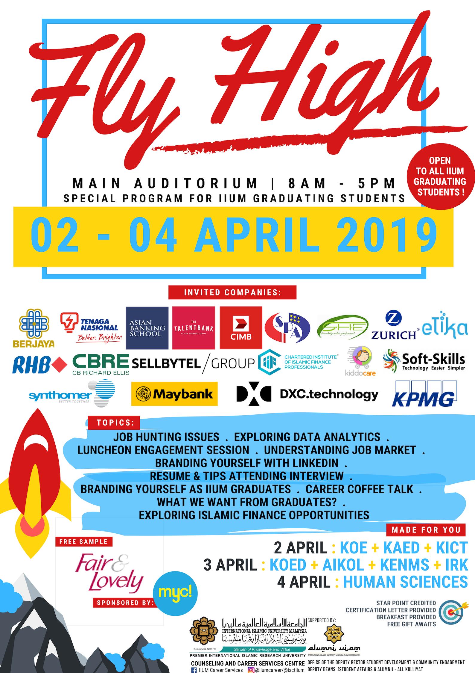IIUM FLY HIGH 1 - 2019