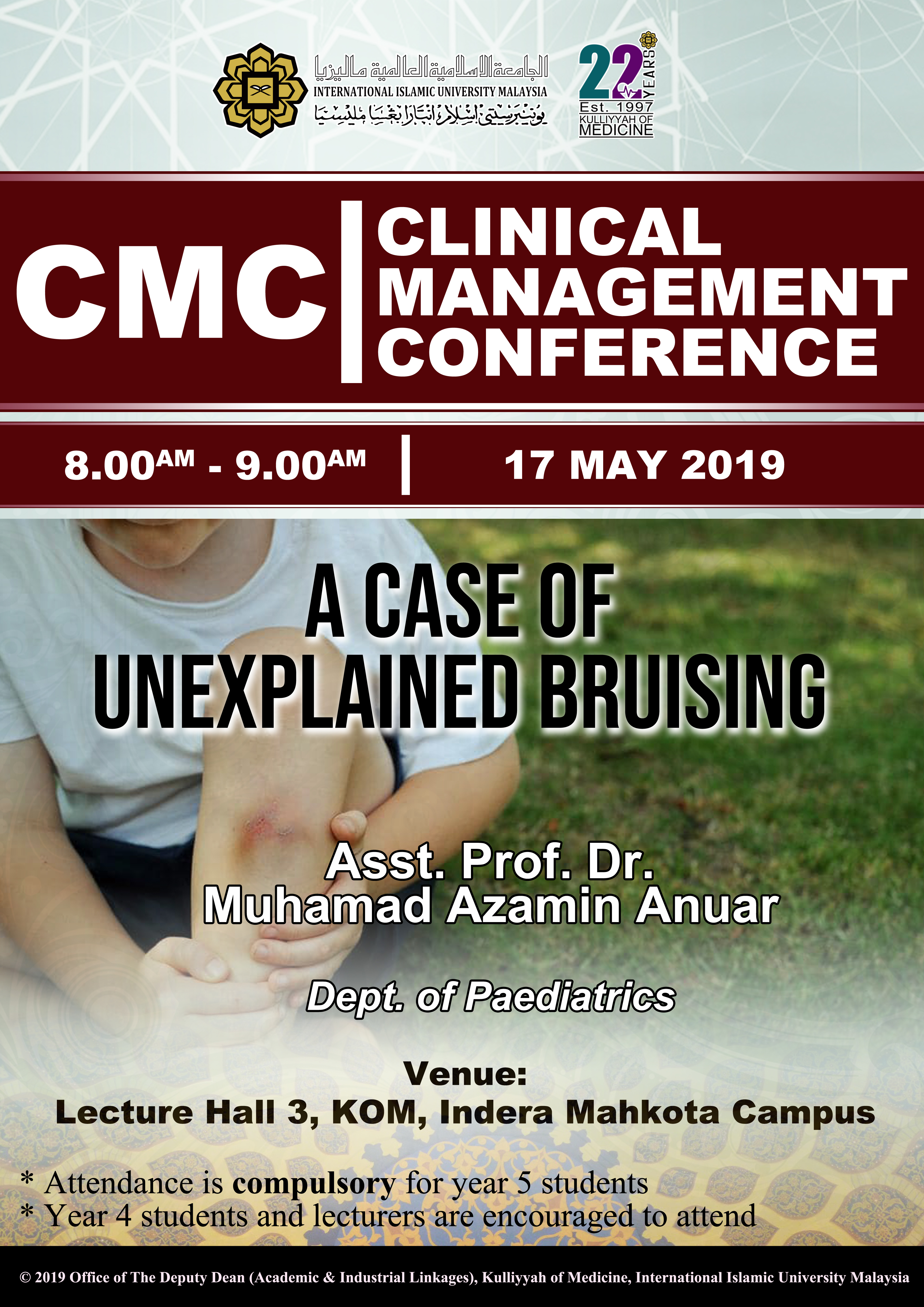 CMC - A Case of Unexplained Brusing