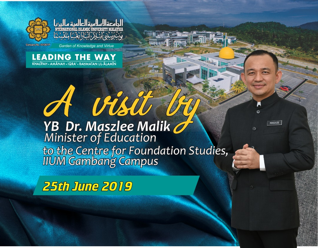 A VISIT BY YB DR MASZLEE MALIK TO CFS