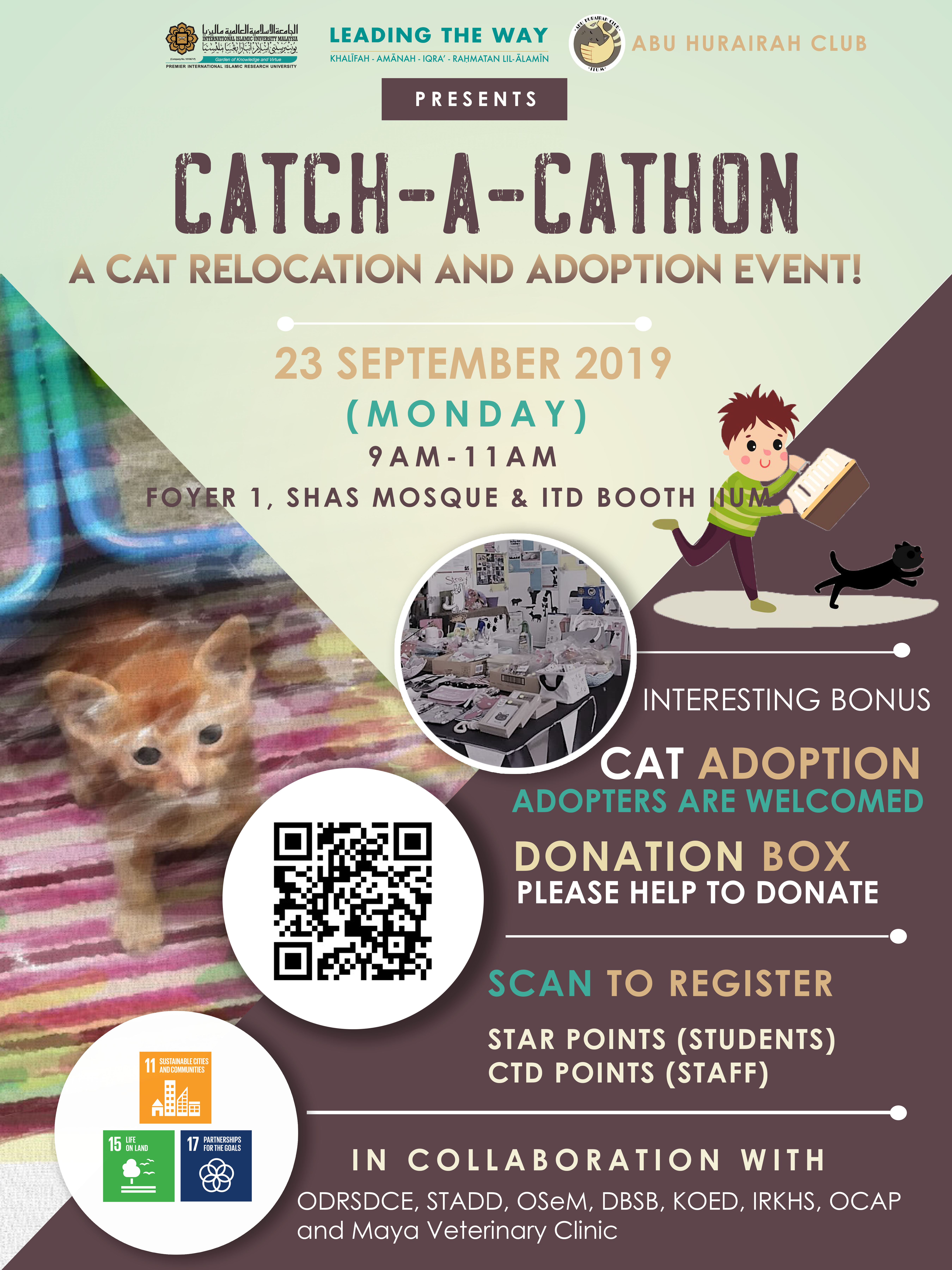 INVITATION TO ATTEND THE CATCH-A-CATHON RELOCATION AND CAT ADOPTION EVENT