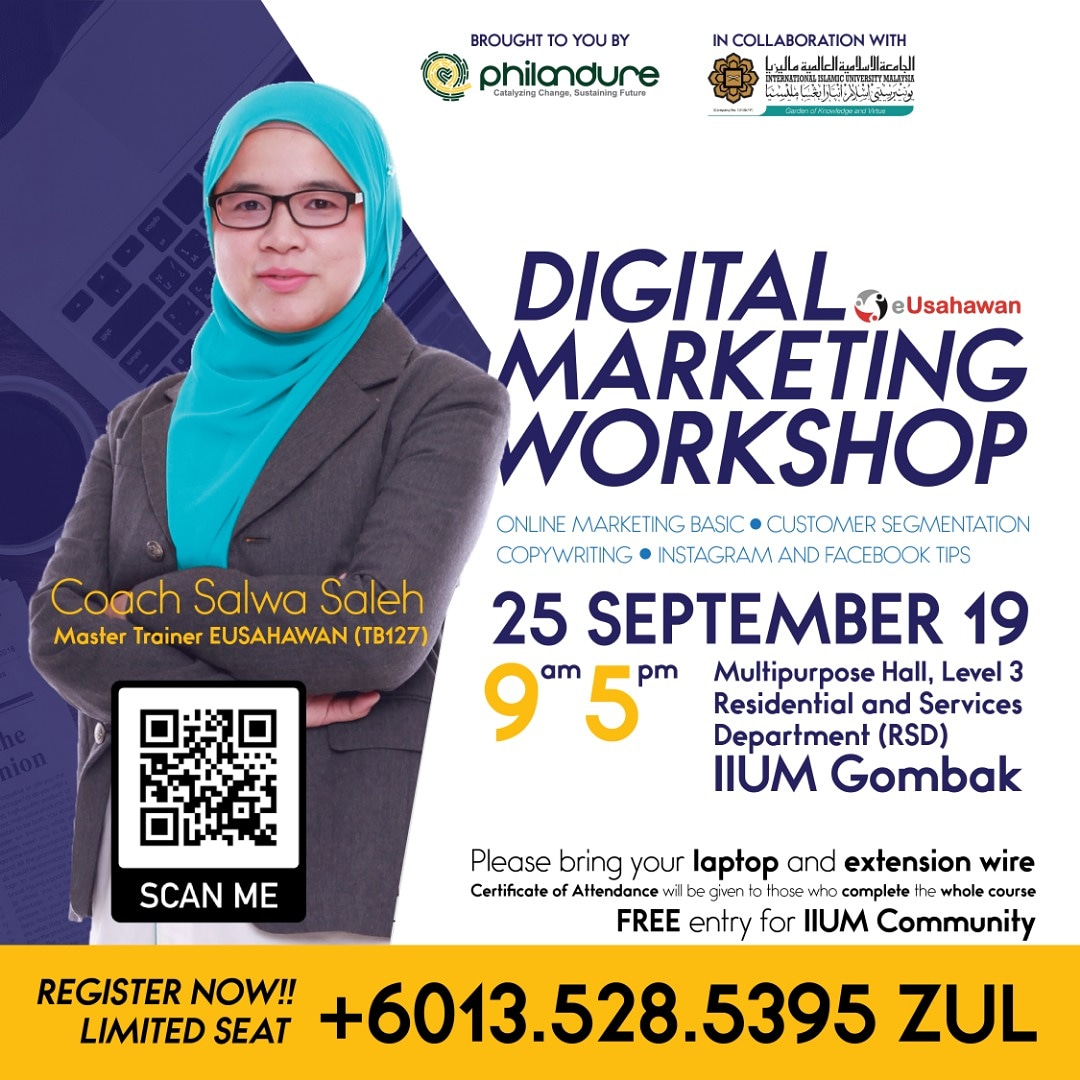INVITATION TO PARTICIPATE IN DIGITAL MARKETING WORKSHOP