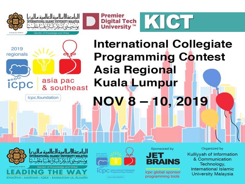 International Collegiate Programming Contest Asia Regional Kuala Lumpur, ACM ICPC 2019