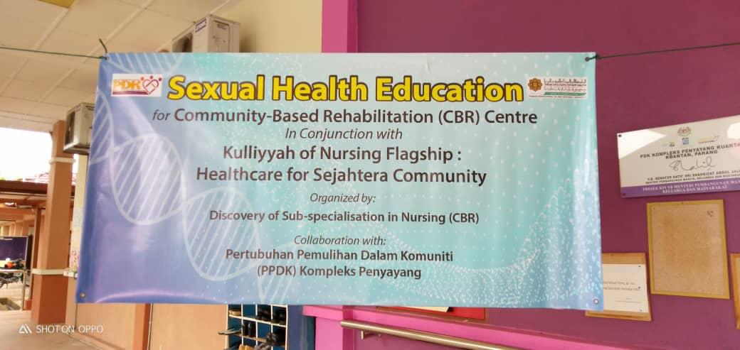 Workshop on Sexual Health Education for Community-based Rehabilitation (CBR) Centre in conjunction with KON flagship: Healthcare for Sejahtera Community.