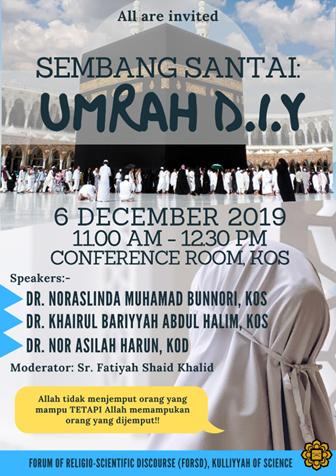 FoRSD Friday Talk - Sembang Santai : Umrah D.I.Y