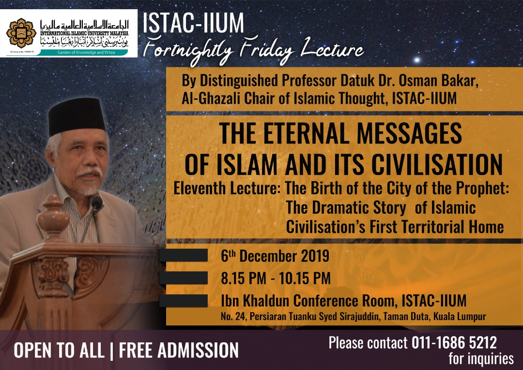ISTAC-IIUM FORTNIGHTLY FRIDAY LECTURE