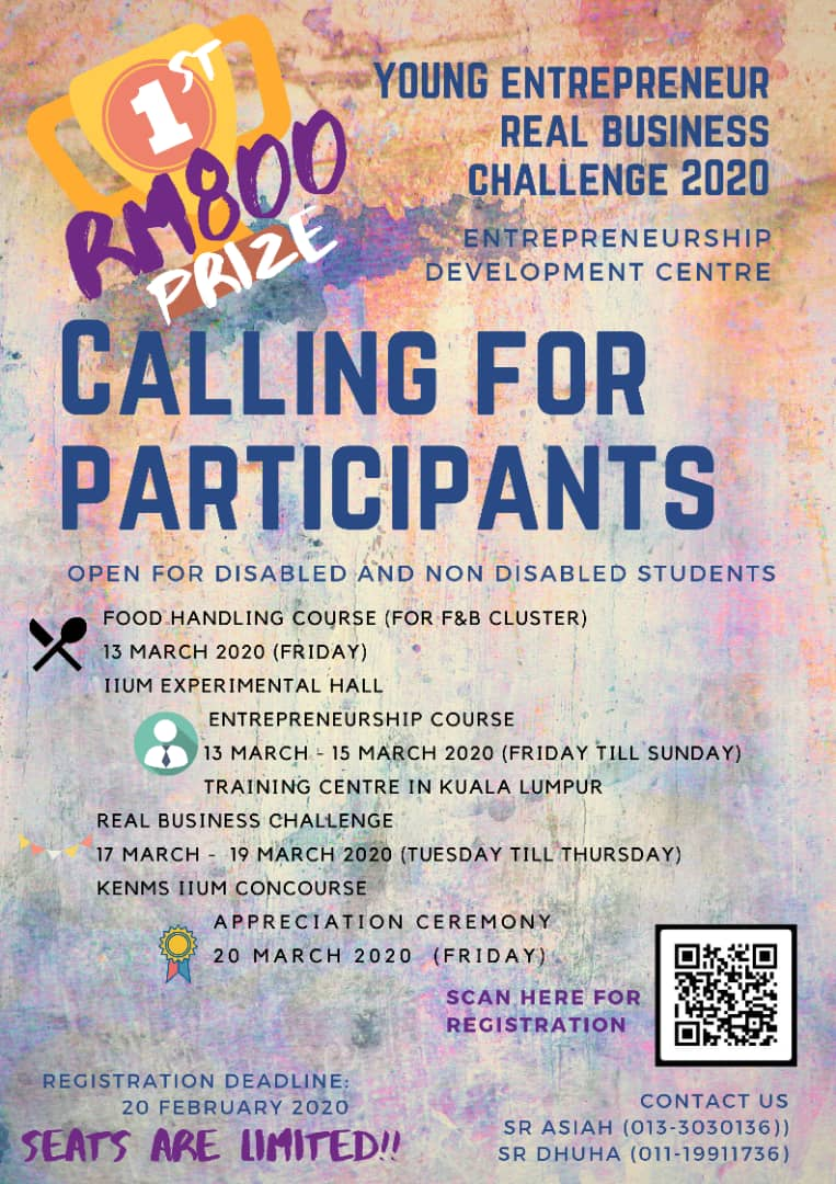 Young Entrepreneur Real Business Challenge 2020