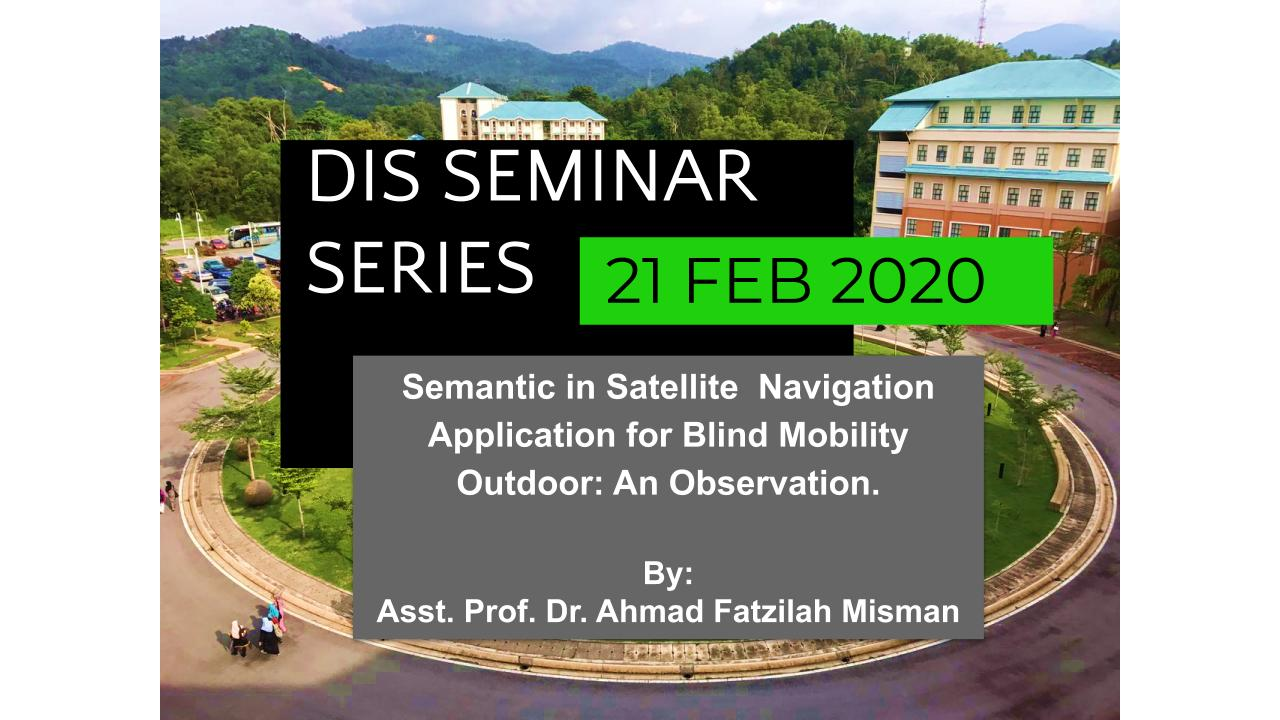 Semantic in Satellite  Navigation Application for Blind Mobility Outdoor: An Observation