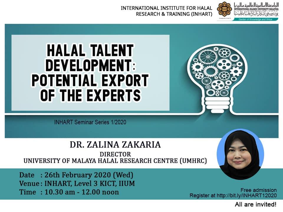 INHART Seminar Series 1/2020