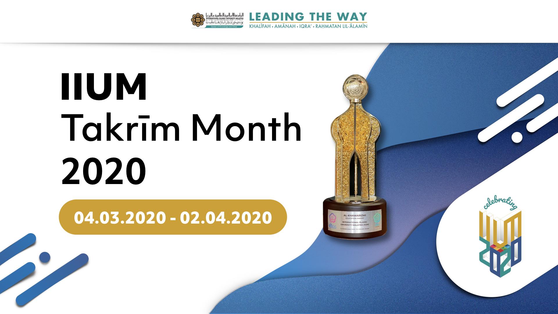 IIUM Takrim Month 2020