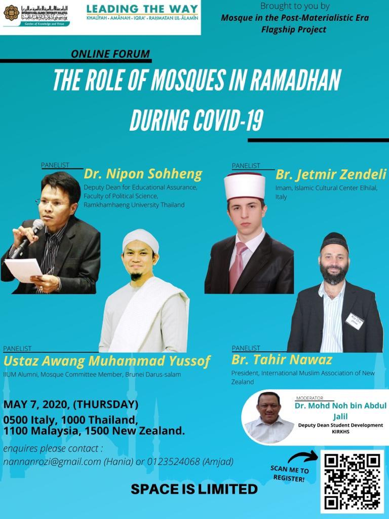 Online Forum: The Role of Mosques in Ramadhan During Covid-19