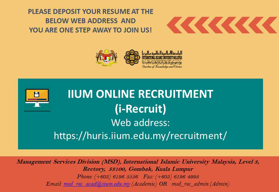 Apply job at IIUM!
