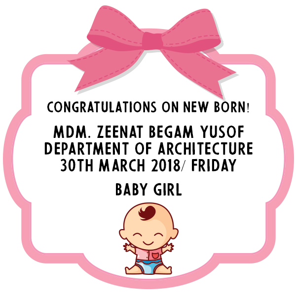 Congrats Mdm Zeenat Begam Yusof