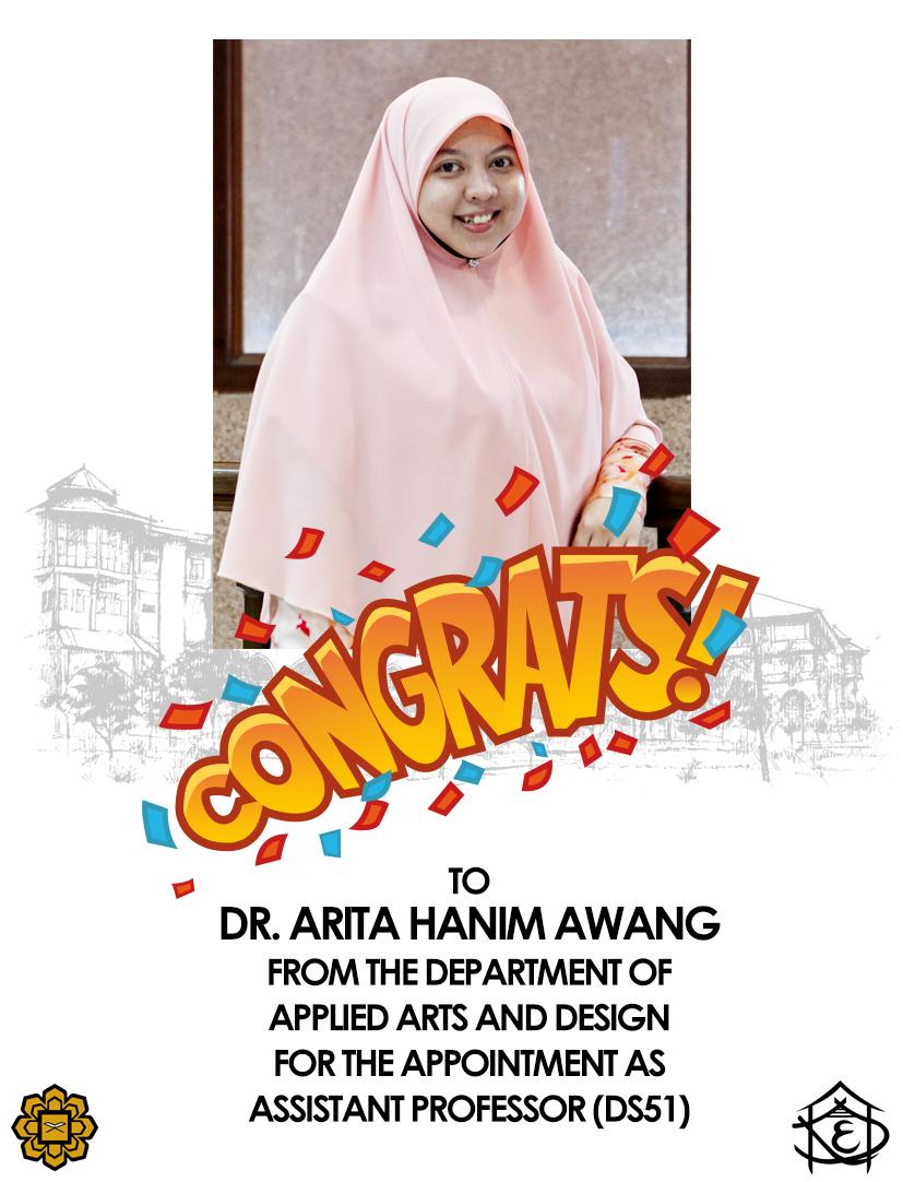 Congrats Dr. Arita Hanim Awang