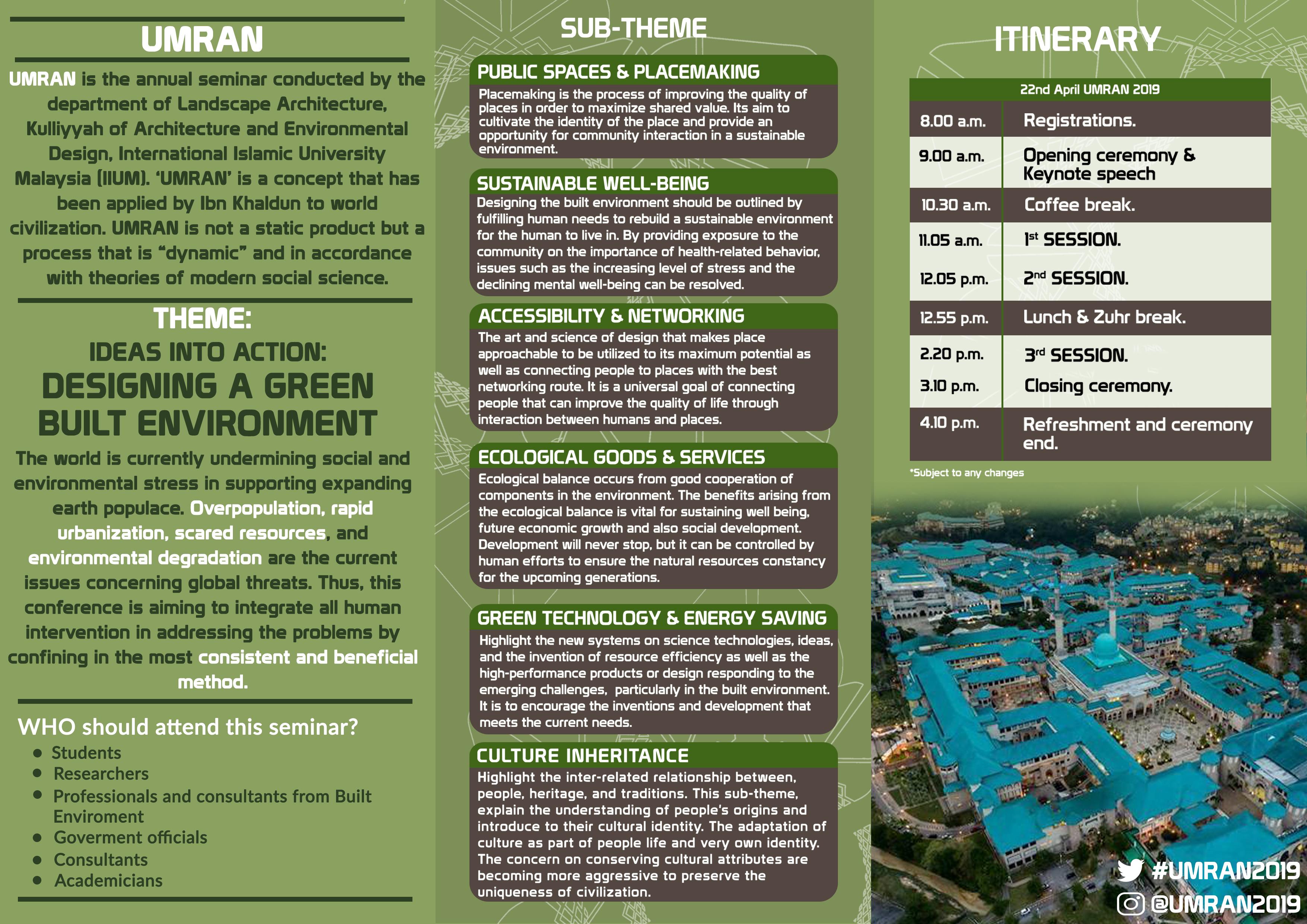 UMRAN 2019 Brochure - Page 2