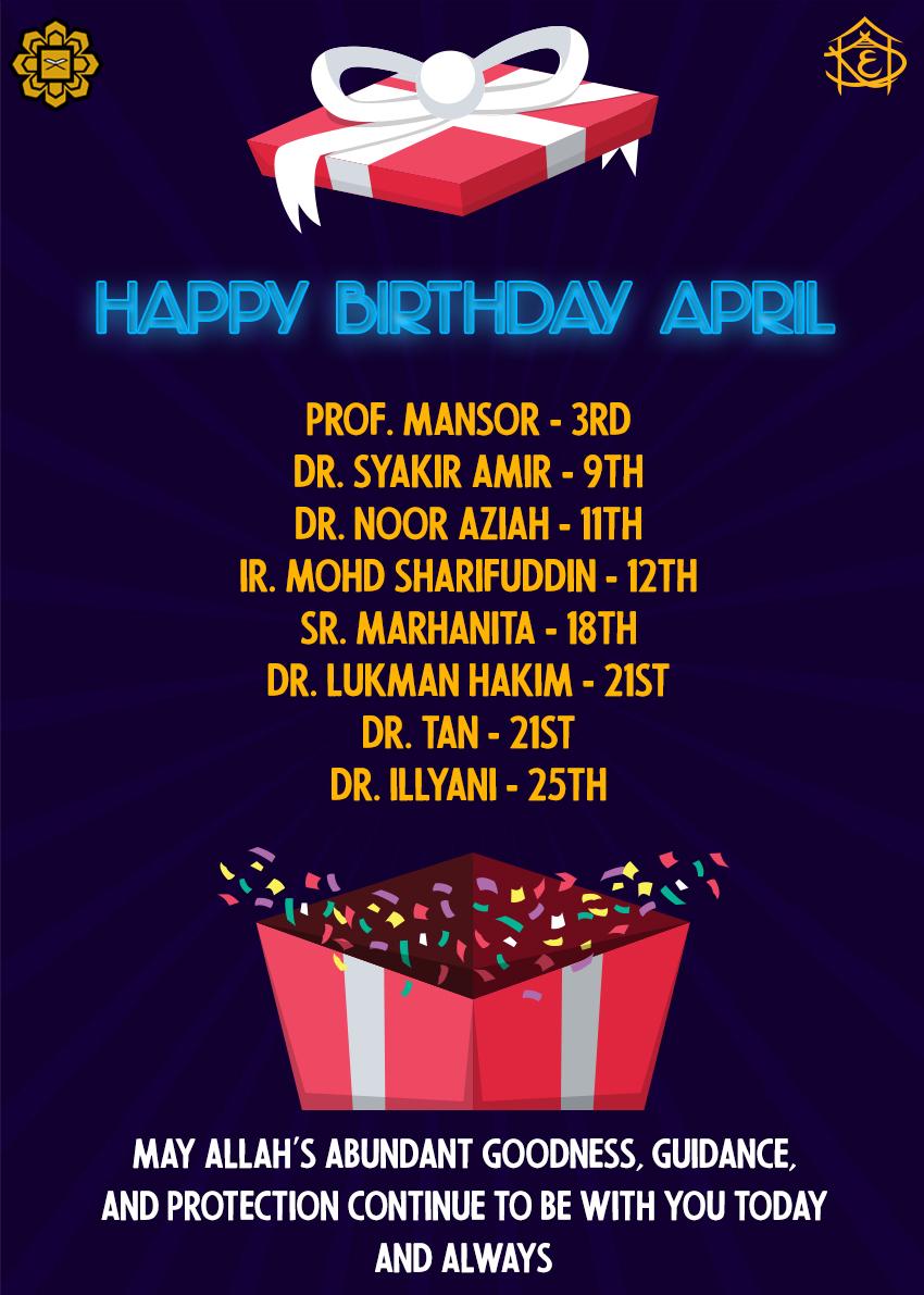Happy Birthday April!