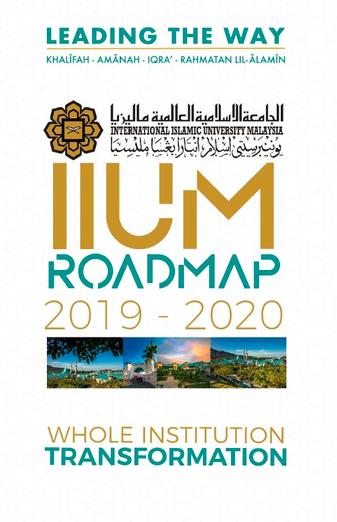 IIUM Roadmap 2019-2020