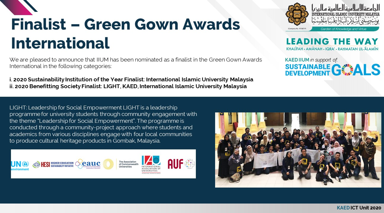 Finalist Green Gown International 2020